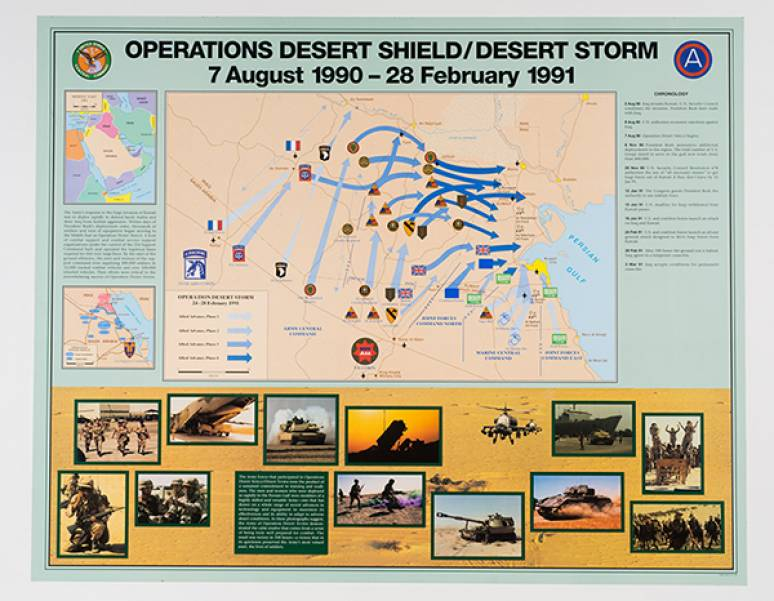 Operations Desert Shield/Desert Storm, 7 August 1990 to 28 February 1991 (Poster)