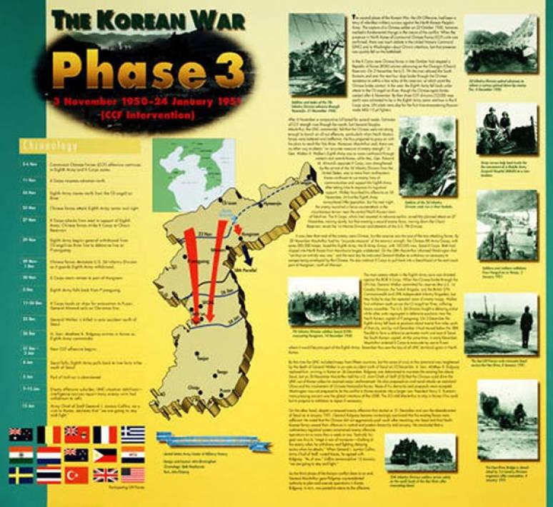 Korean War Phase 3: 3 November 1950 - 24 January 1951 (CCF Intervention) (Poster)