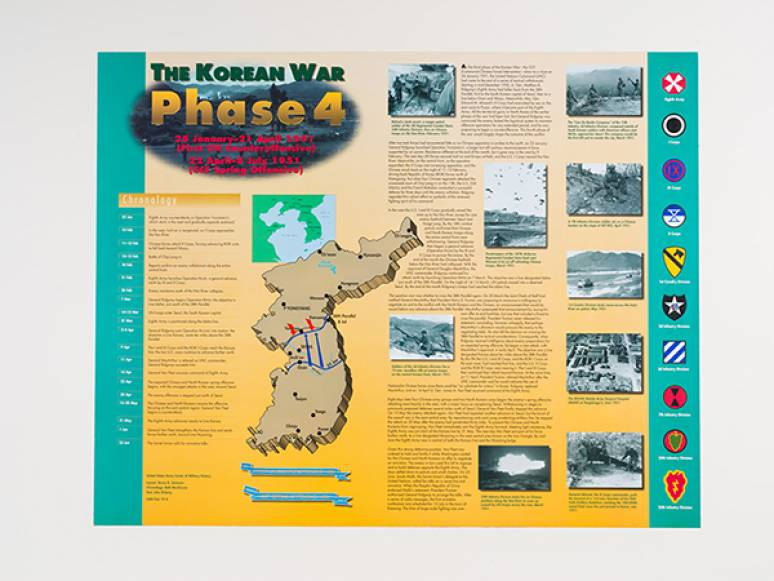 The Korean War, Phase 4 - January 25 - April 21 1951 and April 22 - July 8, 1951 (Poster)
