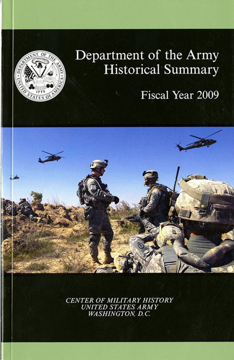 Department of the Army Historical Summary, Fiscal Year 2009