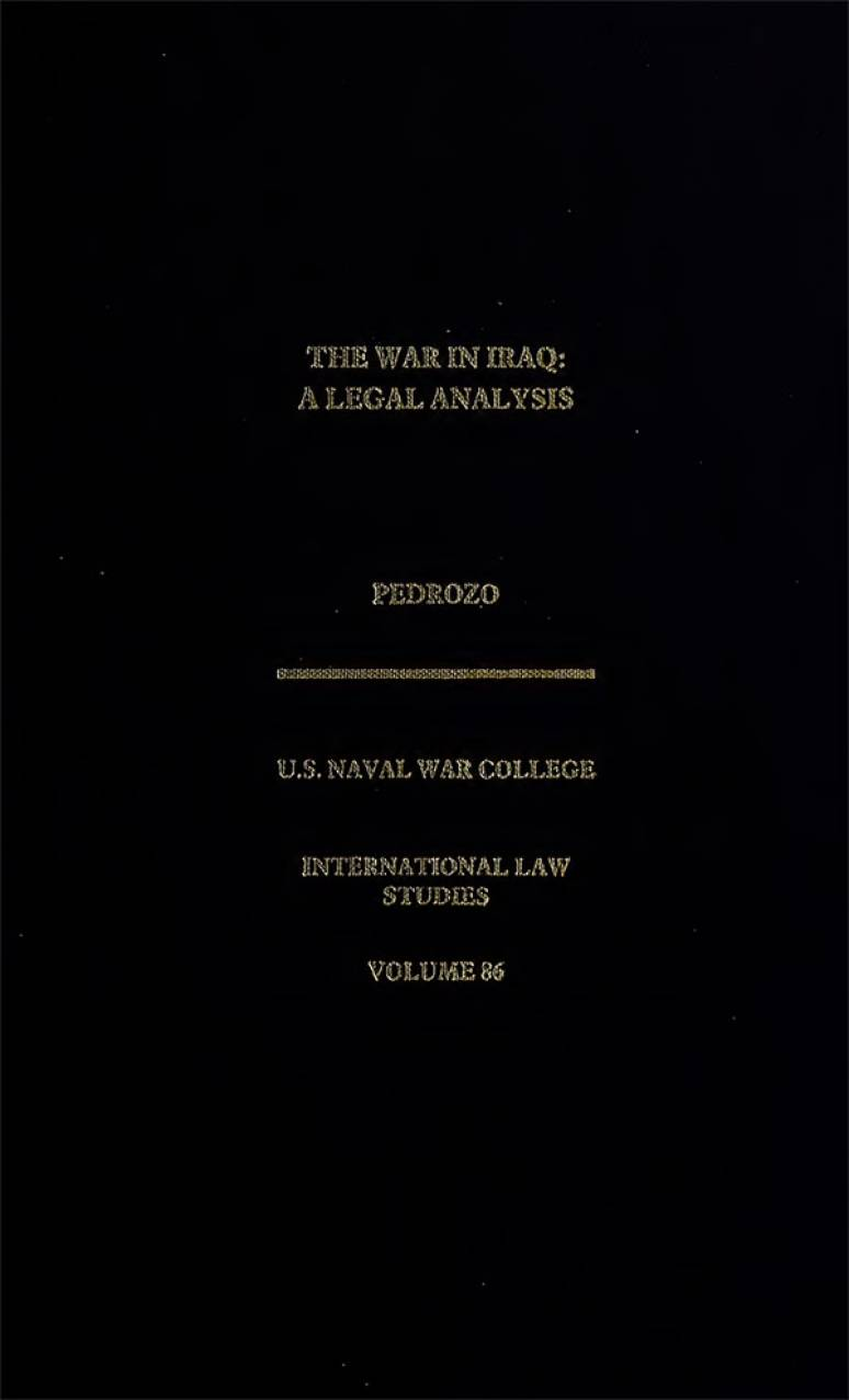 The War In Iraq: A Legal Analysis