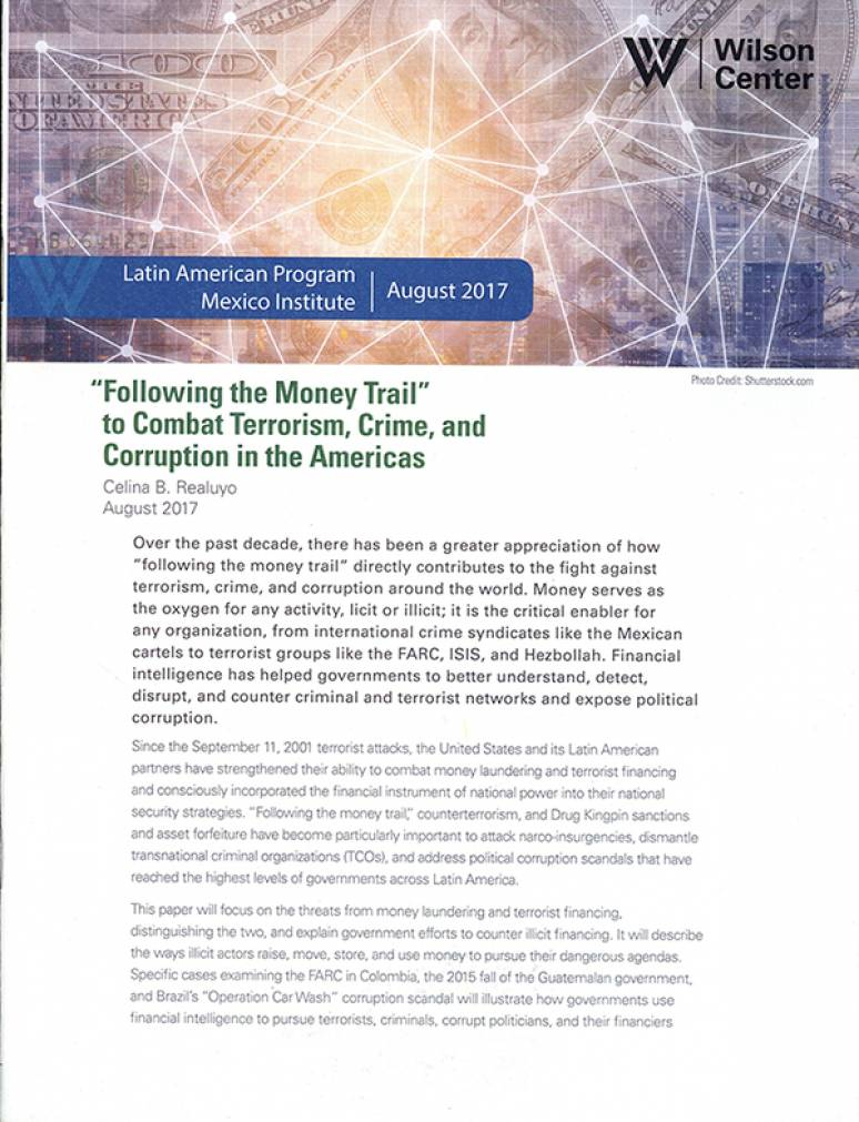 """""""Following the Money Trail"""" To Combat Terrorism, Crime, and Corruption in The Americas"""