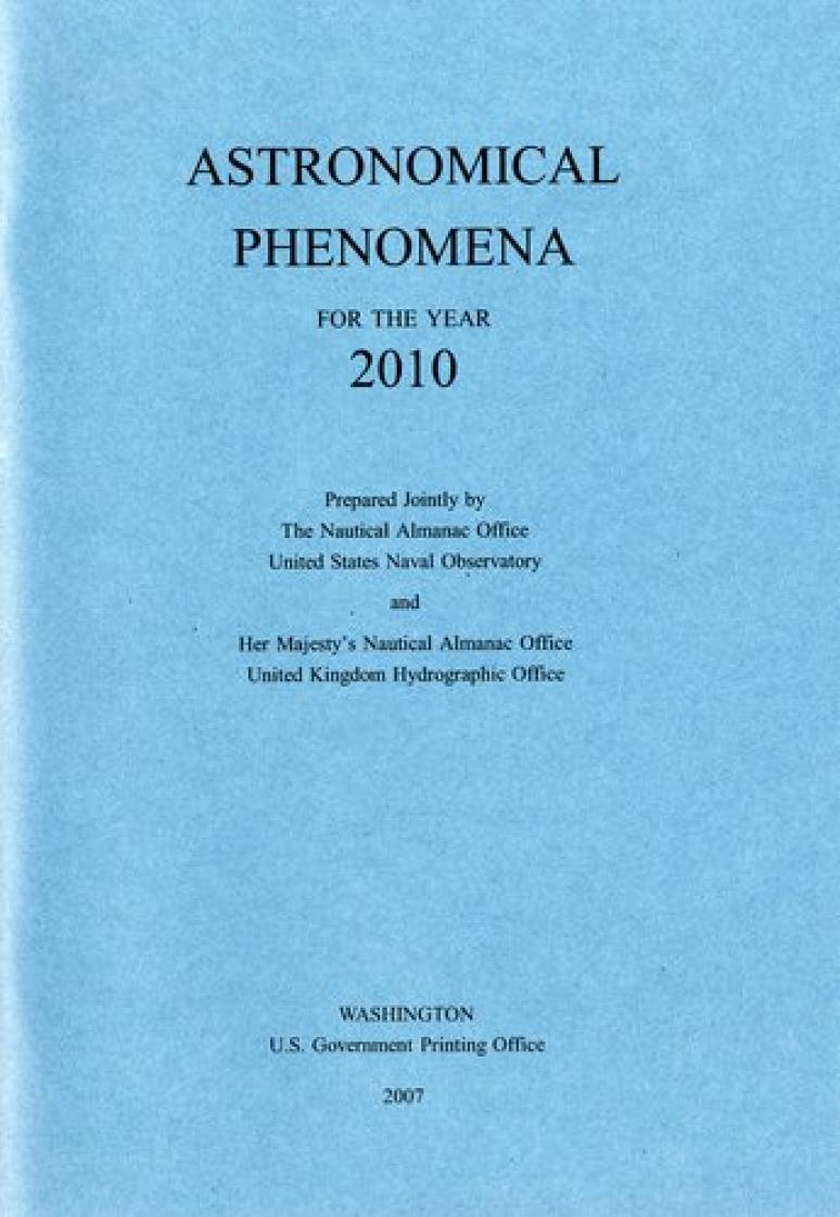 Astronomical Phenomena for the Year 2010