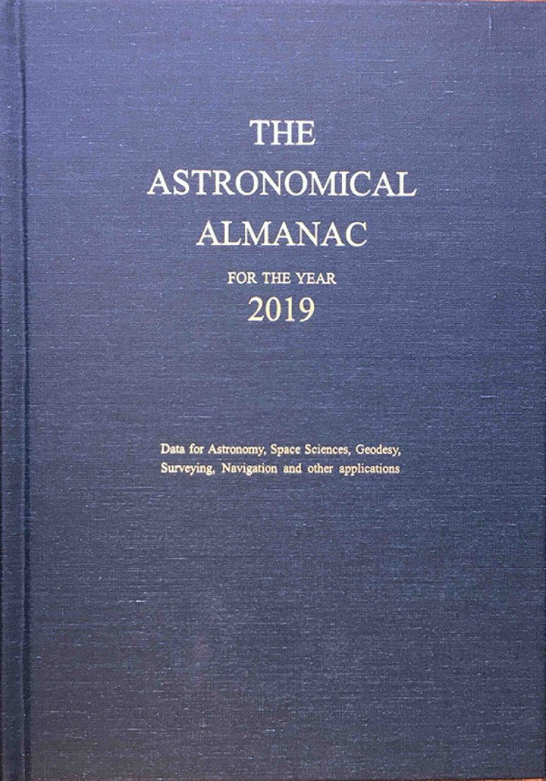 Astronomical Almanac For The Year 2019
