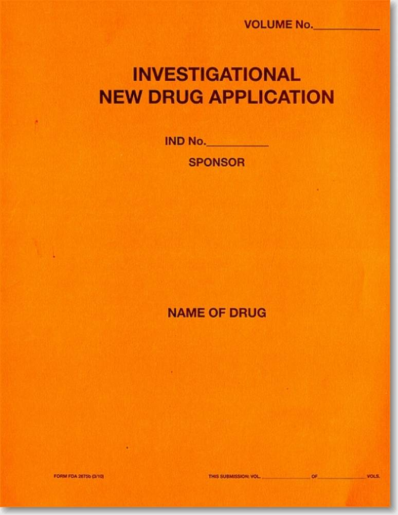 Investigational New Drug Application (Orange Paper Folder)