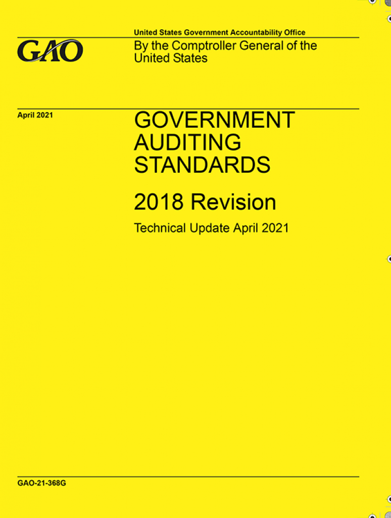 Government Auditing Standards 2018 Revision Technical Update April 2021