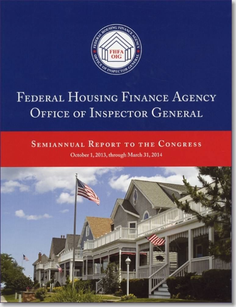 federal housing finance agency office of inspector general semiannual report to congress. Black Bedroom Furniture Sets. Home Design Ideas