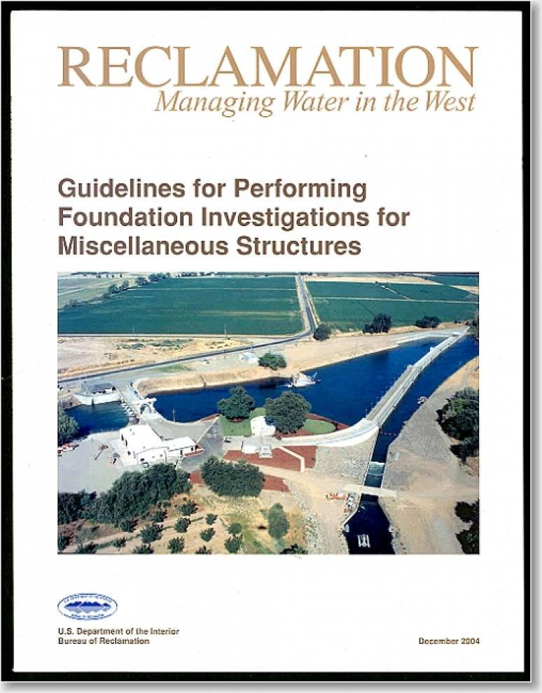 Guidelines For Performing Foundation Investigations For Miscellaneous Structures