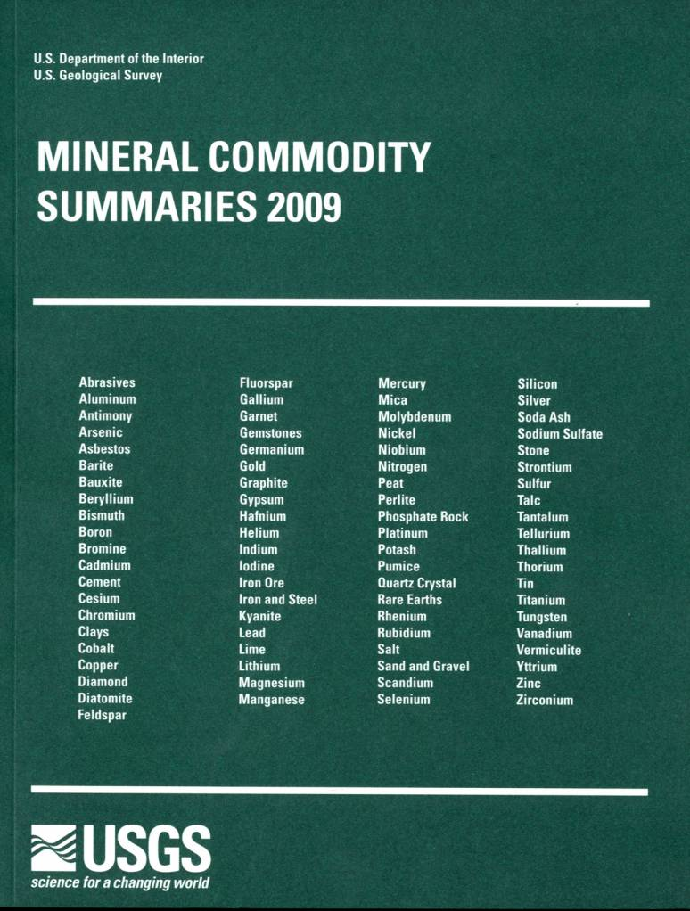 Mineral Commodity Summaries 2009