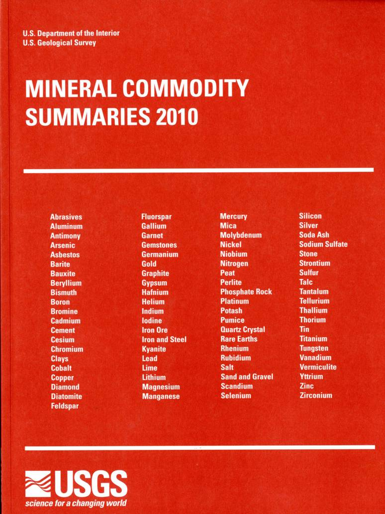 Mineral Commodity Summaries, 2010