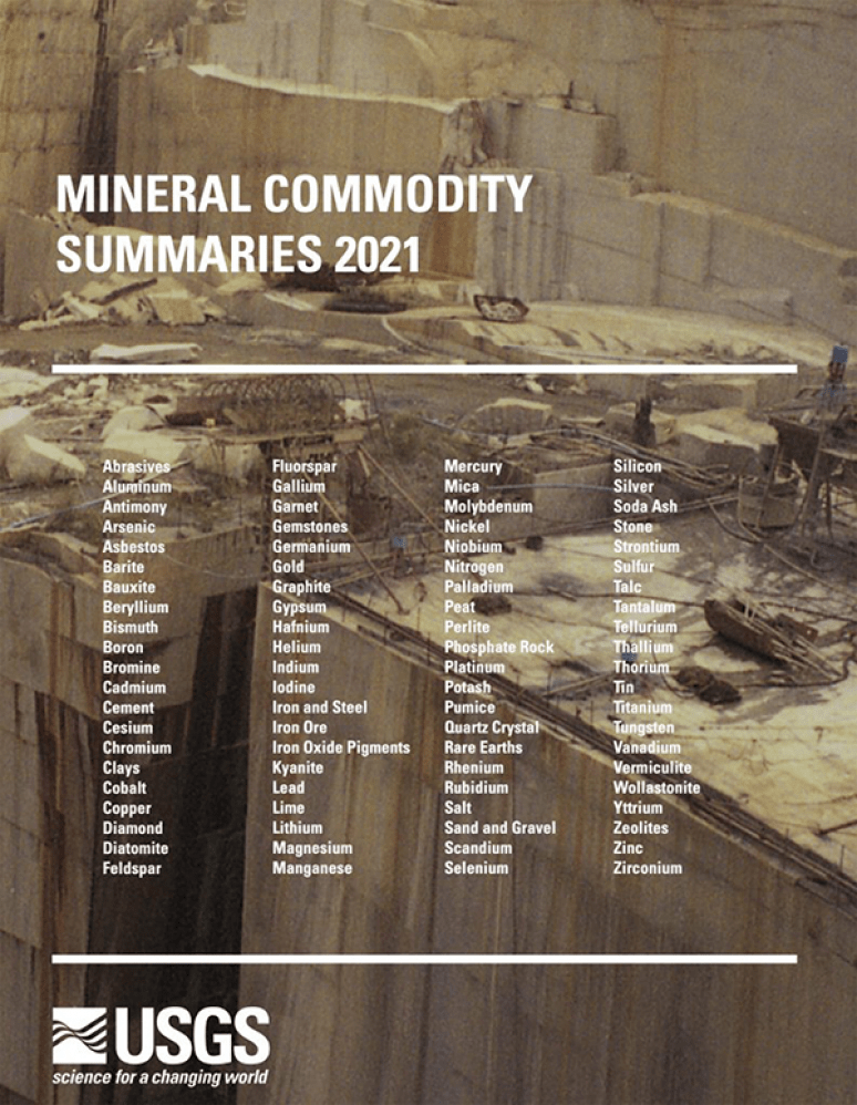 Mineral Commodity Summaries 2021