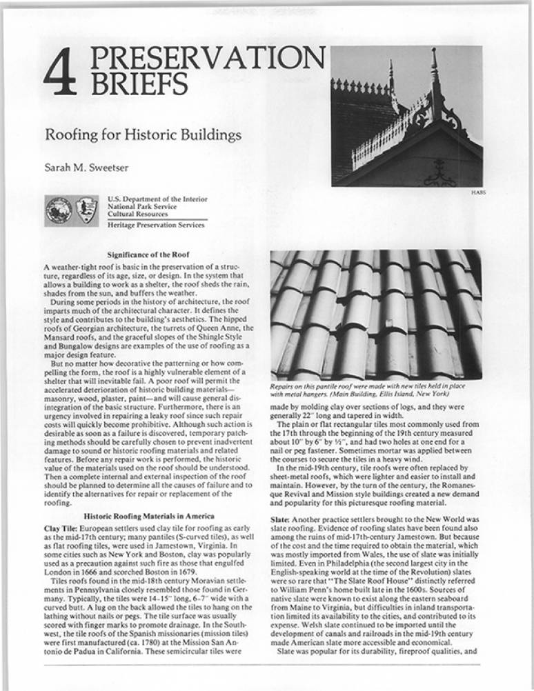 Preservation Briefs: Recognizing and Resolving Common Preservation Problems,  1-14