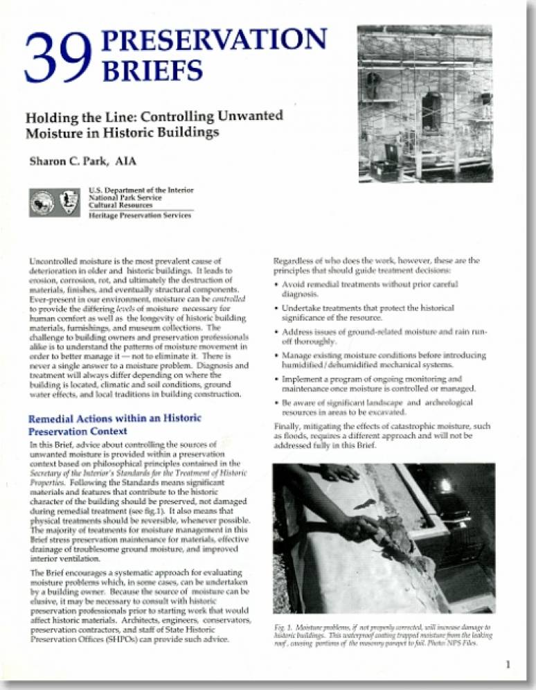 Holding the Line: Controlling Unwanted Moisture in Historic Buildings