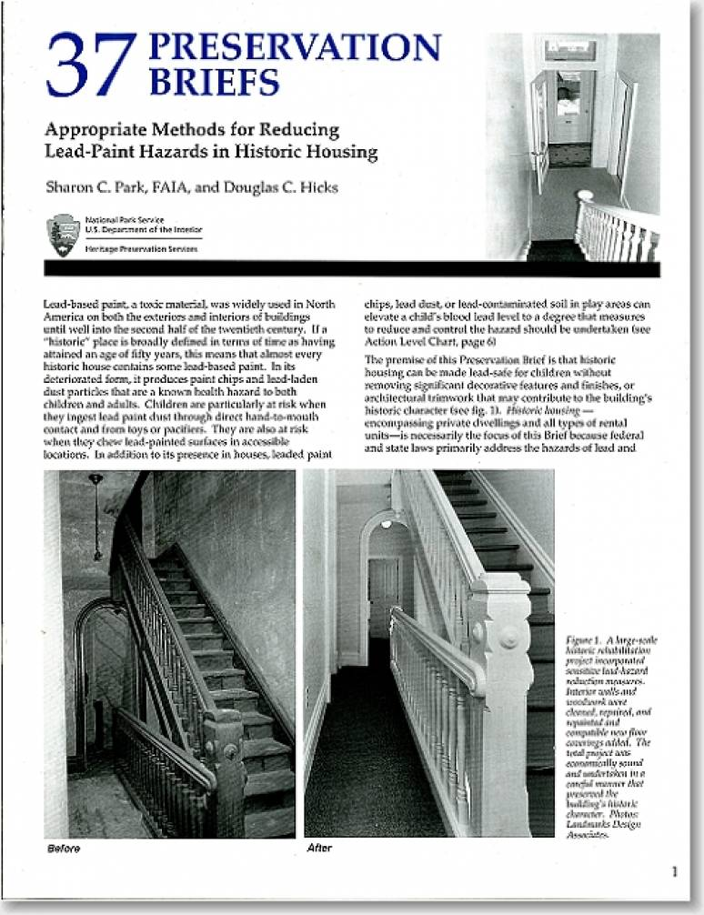 Appropriate Methods for Reducing Lead-Paint Hazards in Historic Housing