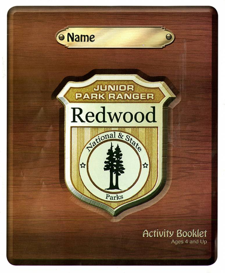 Junior Park Ranger Redwood Activity Book Ages 4 and Up