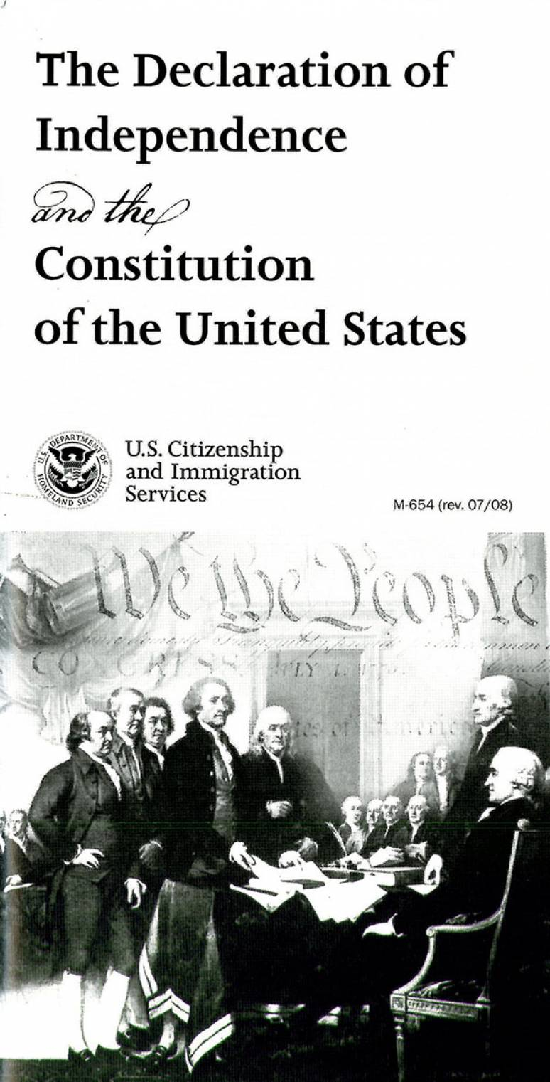 Declaration of Independence and Constitution of the United States