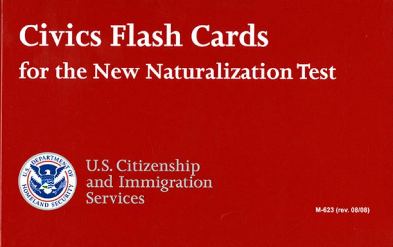 Civics Flash Cards for the Naturalization Test (2017)