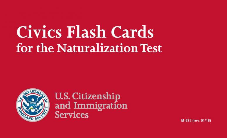 Civics Flash Cards for the Naturalization Test