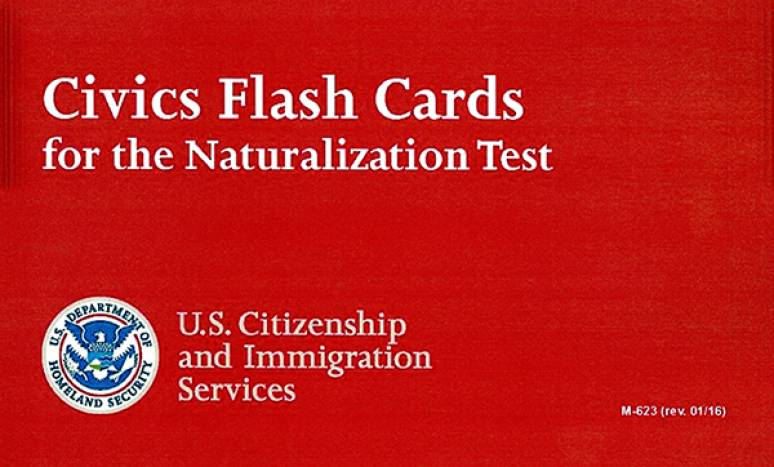 Vocabulary Flash Cards For The New Naturalization Test (revised)