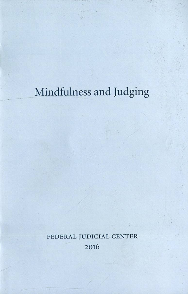 Mindfulness and Judging
