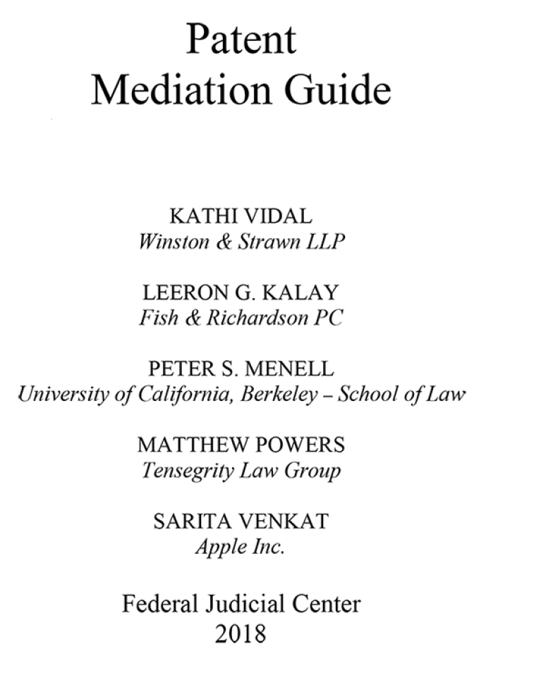 Patent Mediation Guide