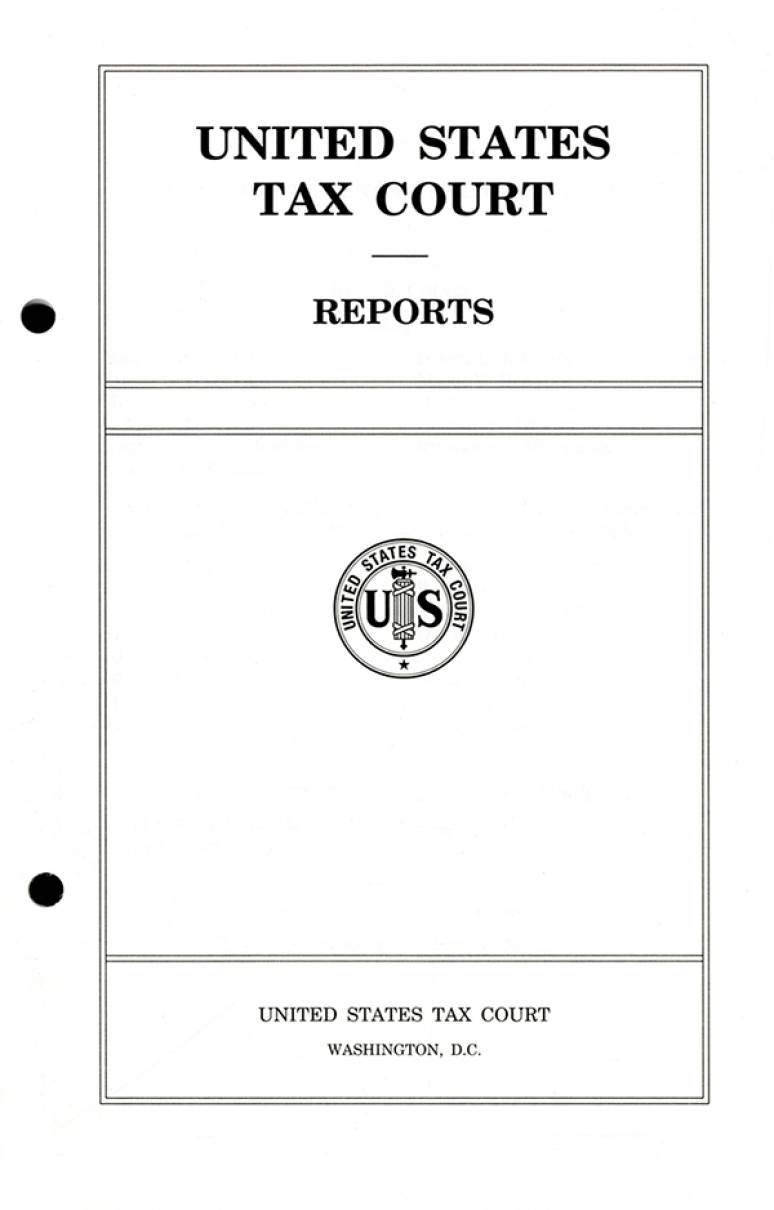United States Tax Court: An Historical Analysis | U.S. Government ...