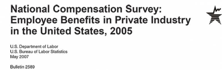 National Compensation Survey: Employee Benefits in Private Industry in the United States, 2005