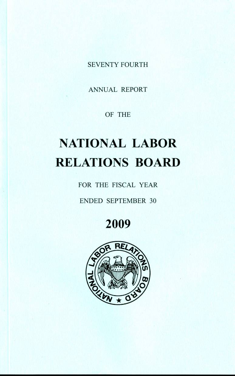 National Labor Relations Board Annual Report, 2009