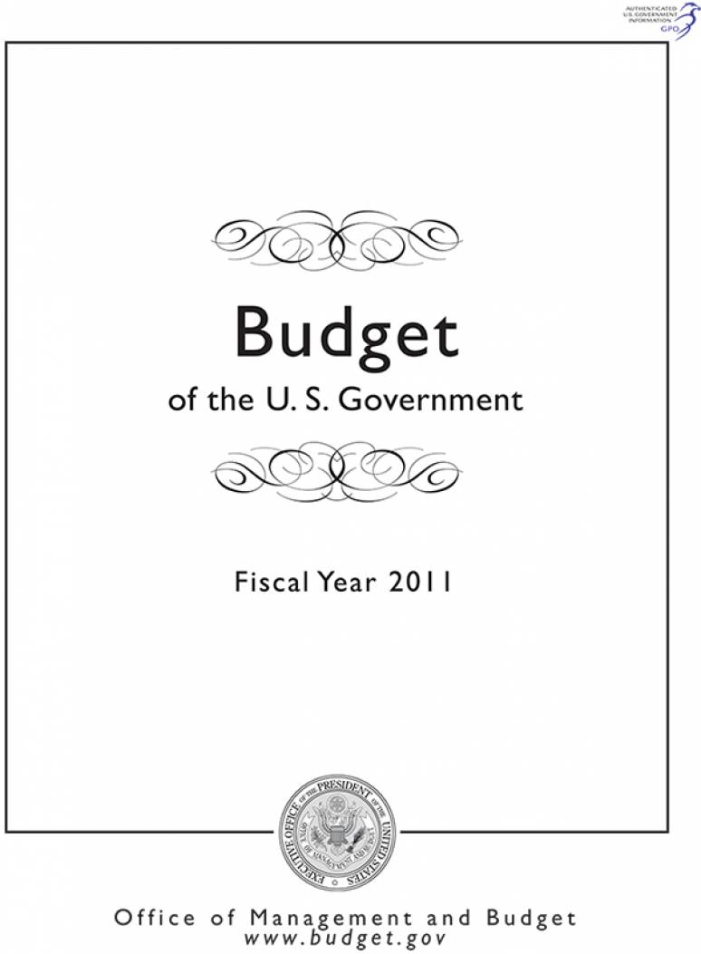 Budget of the U.S. Government, Fiscal Year 2011 (CD-ROM)