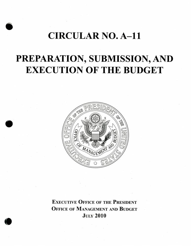 Preparation, Submission, and Execution of the Budget, July 2010