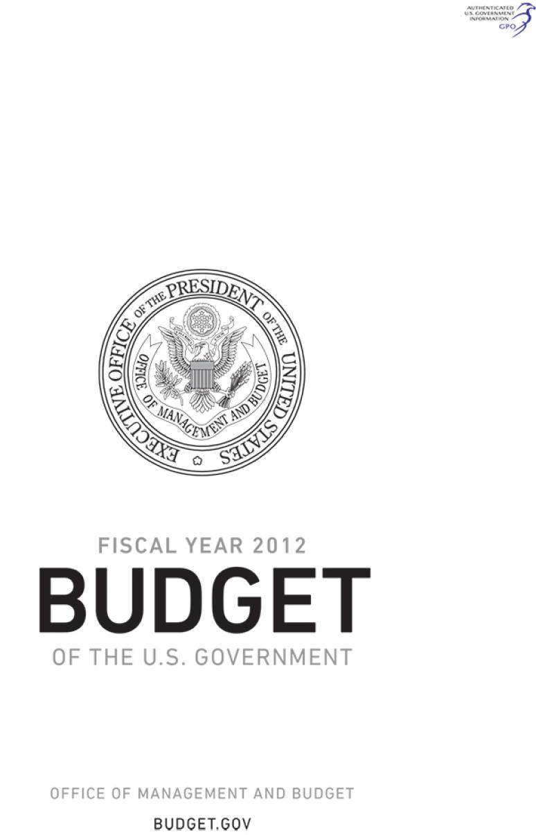 Fiscal Year 2012 Budget of the U.S. Government (CD-ROM)