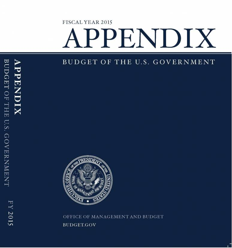 Fiscal Year 2015 Appendix, Budget of the U.S. Government