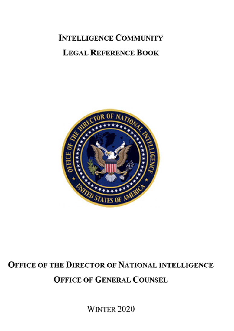 Intelligence Community Legal Reference Book, Winter 2020