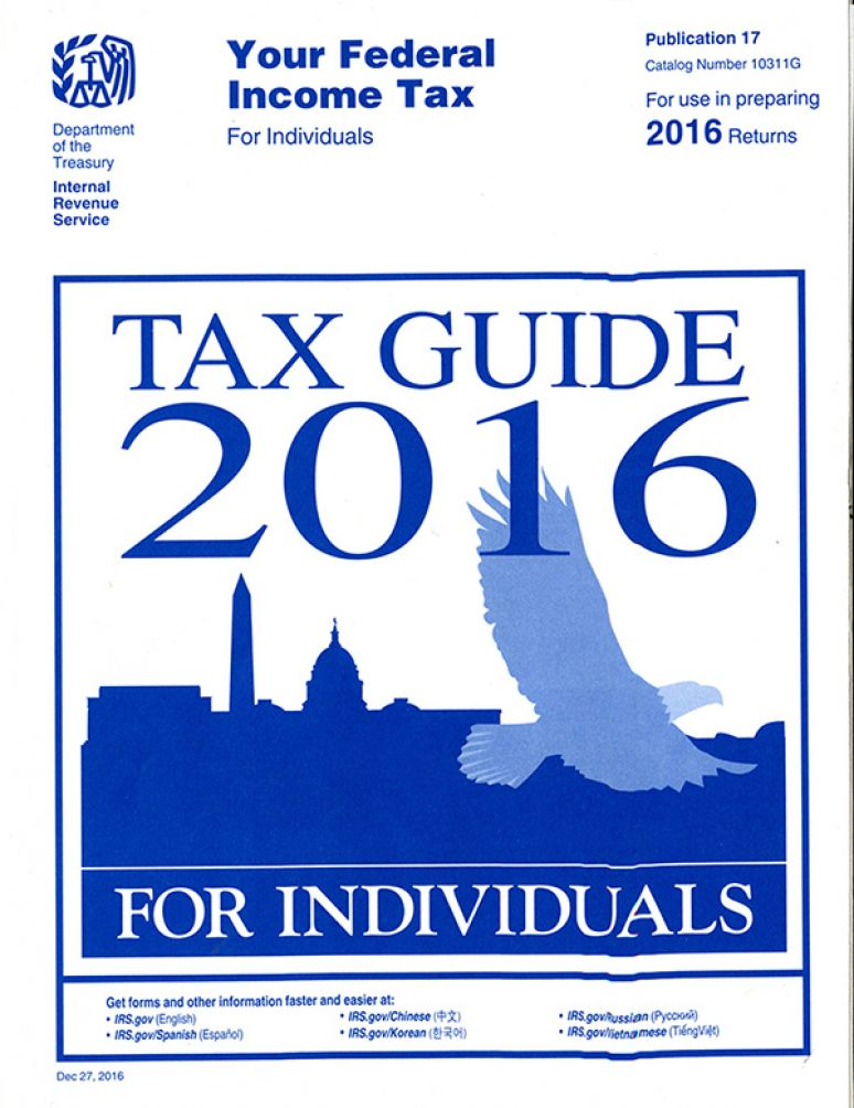 Your Federal Income Tax For Individuals Tax Guide 2016 For