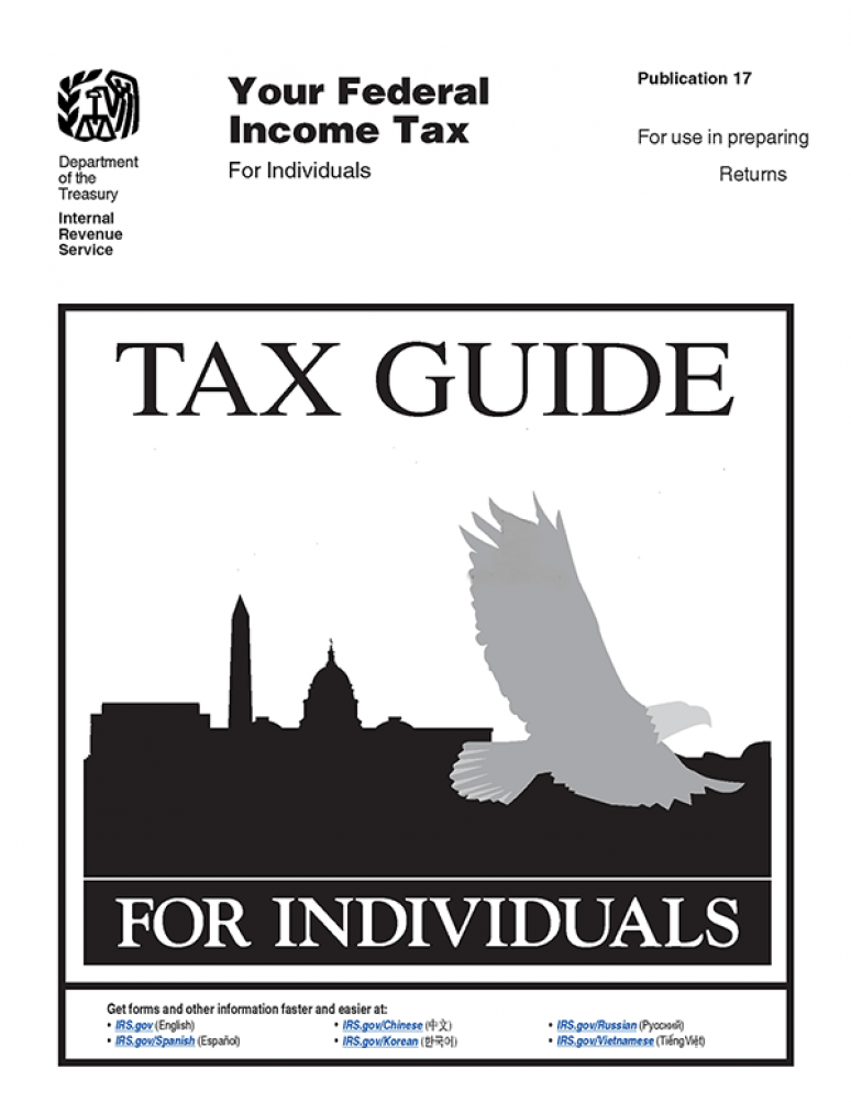 2019  IRS Publication 17 (Your Federal Income Tax For Individuals)