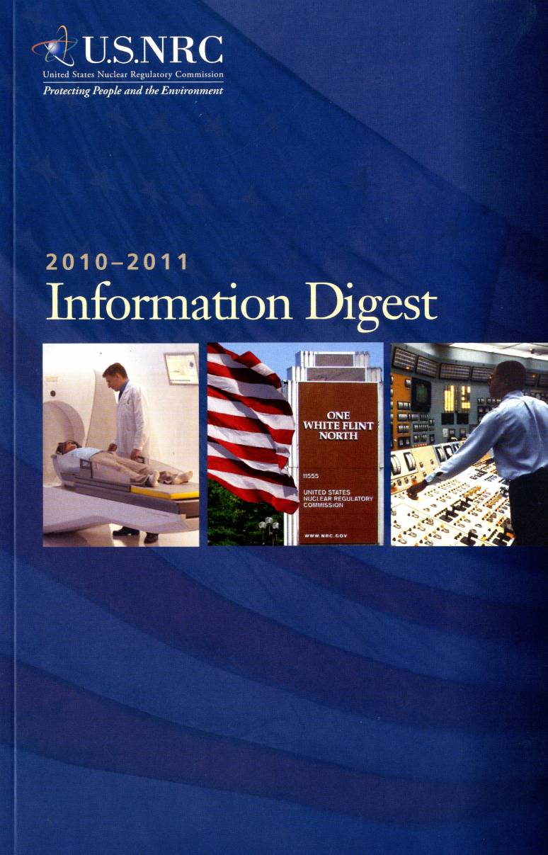 United States Nuclear Regulatory Commission Information Digest 2010-2011