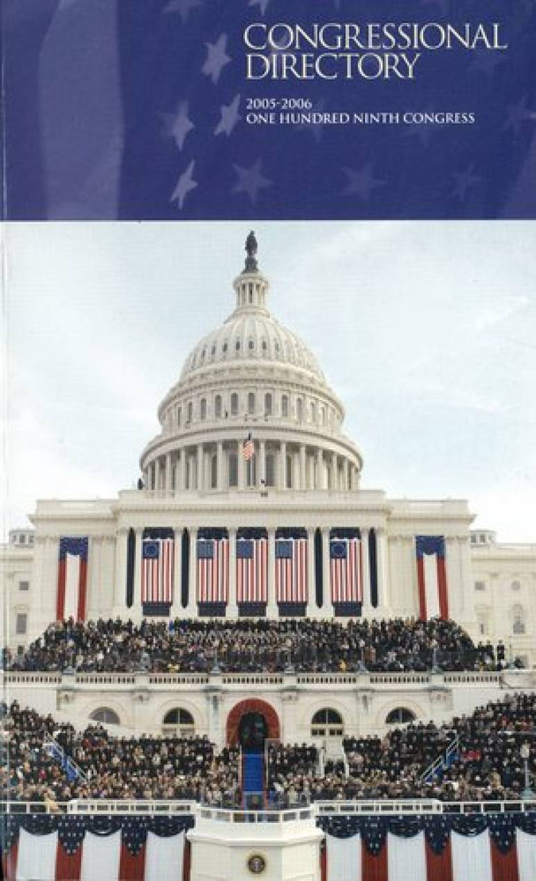 Official Congressional Directory, 2005-2006, 109th Congress, Convened January 4, 2005 (Paperbound)