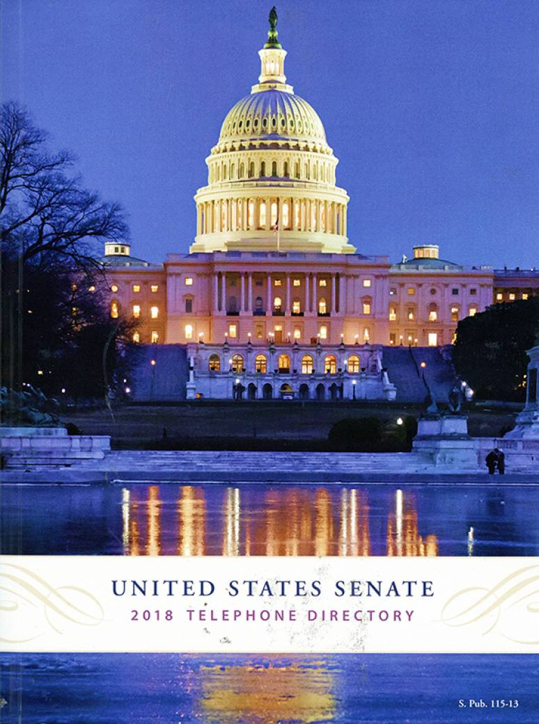 United States Senate 2018 Telephone Directory
