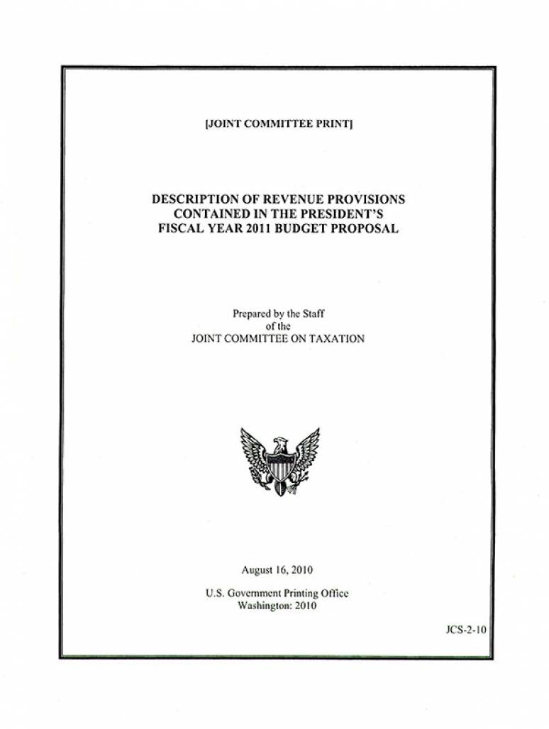Description of Revenue Provisions Contained in the President's Fiscal Year 2010 Budget Proposal, Part Three: Provisions Related to the Taxation of Cross-Border Income and Investment