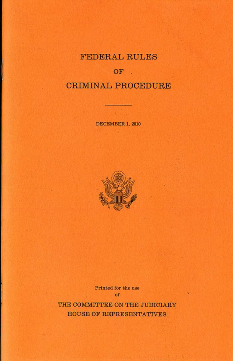 Federal Rules of Criminal Procedure, Dec. 1, 2010