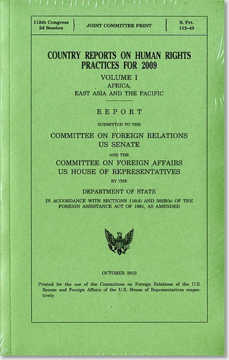 Country Reports on Human Rights Practices for 2009 (3 Volumes)