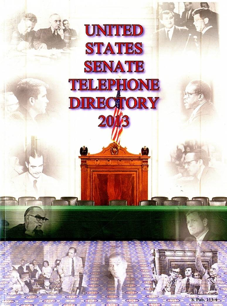 United States Senate Telephone Directory 2013