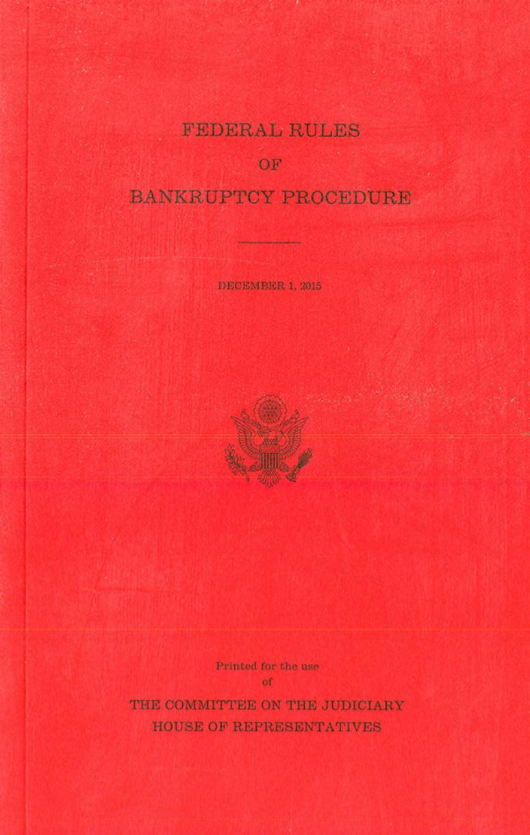 Federal Rules of Bankruptcy Procedure, December 1, 2015