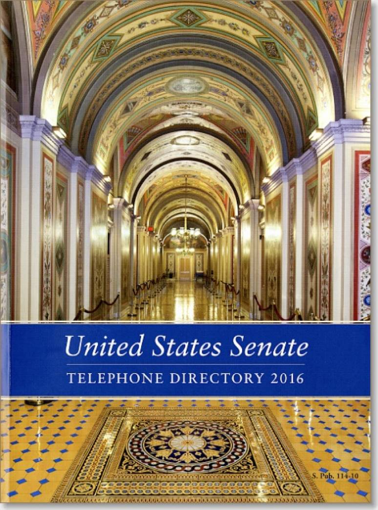 United States Senate Telephone Directory, 2016