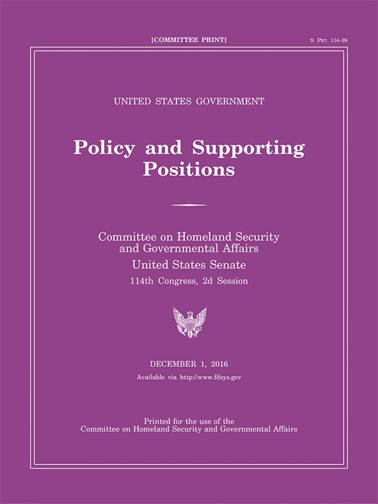 A Plum Book of Political Positions   Government Book Talk
