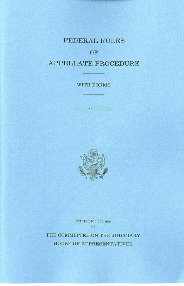 Federal Rules of Appellate Procedure, With Forms, December 1, 2018
