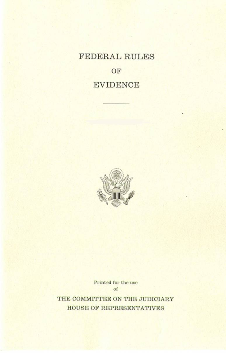 Federal Rules Of Evidence, December 1, 2018