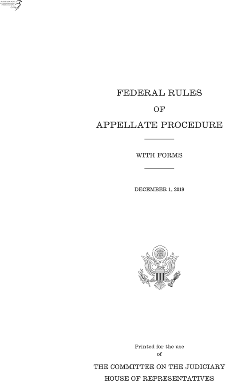Federal Rules Of Appellate Procedure, 2019