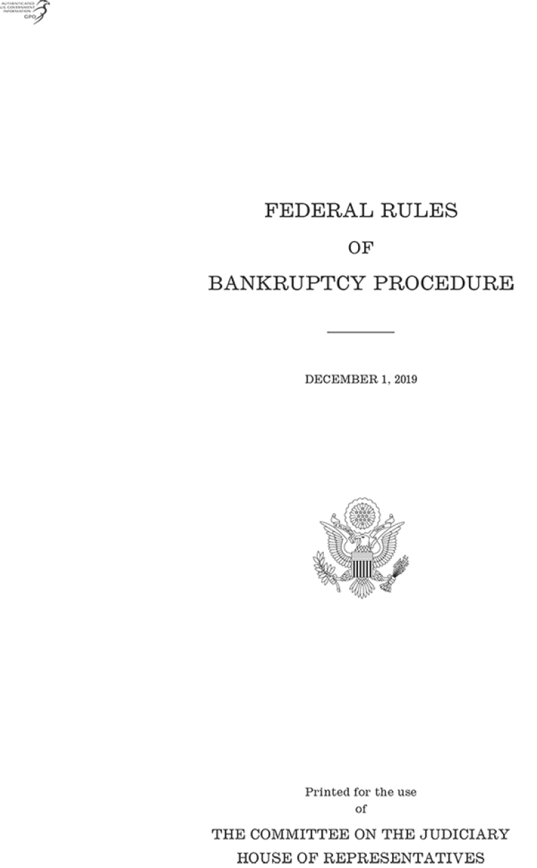 Federal Rules of Bankruptcy Procedure, 2019