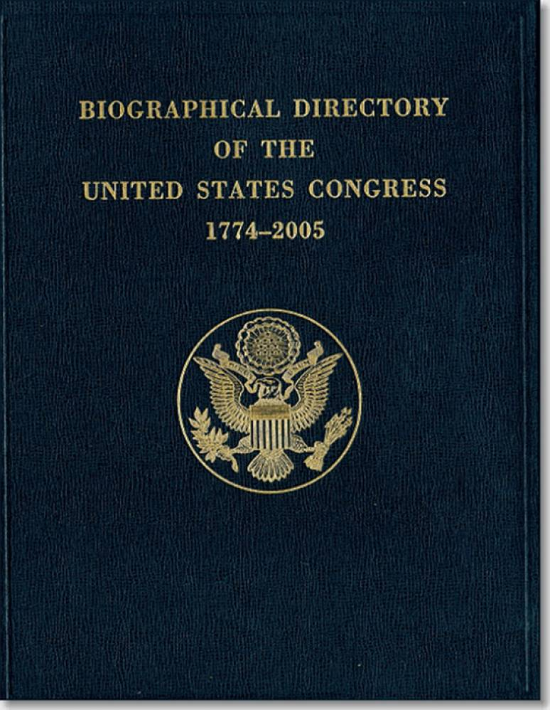 Biographical Directory of the United States Congress, 1774-2005